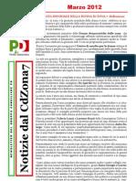 Newsletter di MARZO 2012 del Gruppo Consiliare PD di Zona 7-Milano