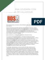 Plataforma Solidaria Con Palestina de Valladolid