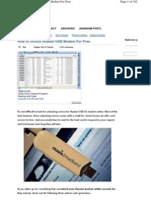 Unlock Huawai | Telecommunications | Telecommunications Equipment