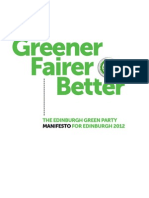 Edinburgh Green Party Manifesto 2012 FINAL