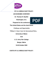 Cost of Us Middle East Policy an Economic Overview Dr Thomas r Stauffer