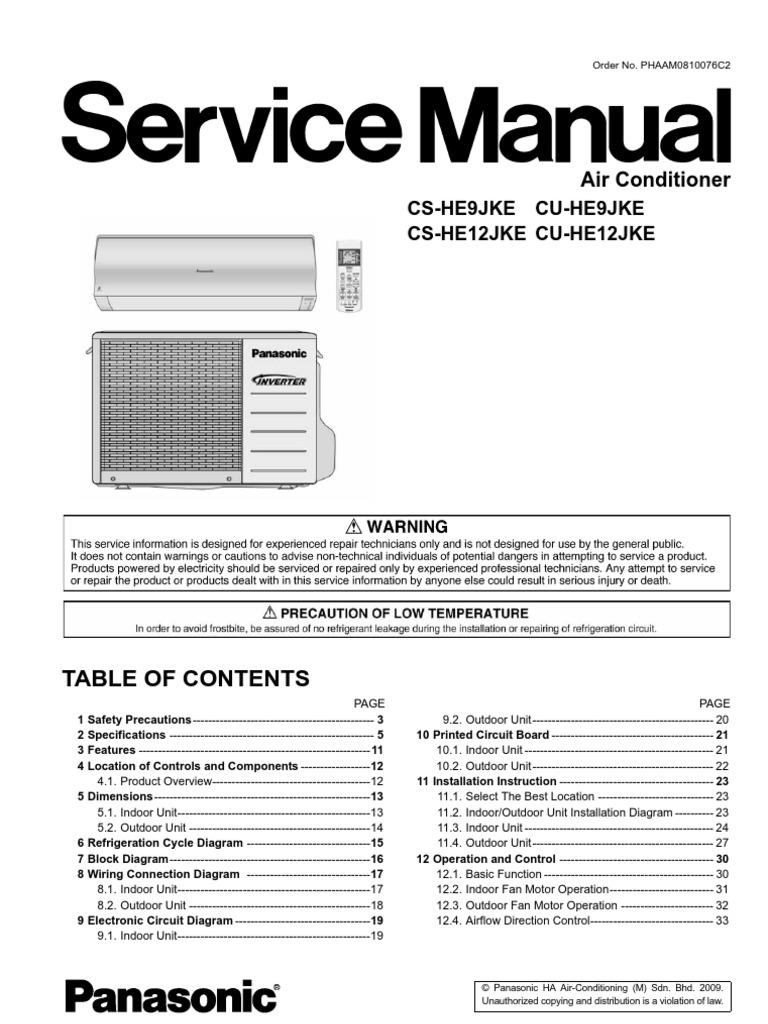 Panasonic cs he9 12jke air conditioning hvac swarovskicordoba Image collections