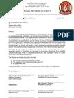 Letter to SAO-CBL
