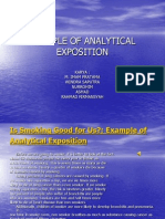 Example of Analytical Exposition