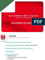 Synthèse Rencontres Radio 2.0 Paris
