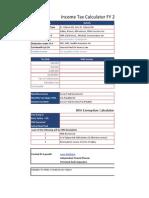 Income Tax Calculator in Excel 2012 2013