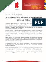 37 NOTA DE PRENSA DISTRIBUCIÓN DE MATERIALES