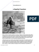 Outsourcing the Quality Function