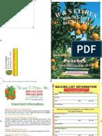 Citrus and Peach Schedule