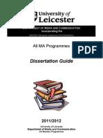 MA Dissertation Booklet 2011 2012