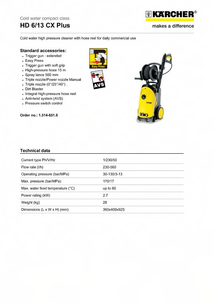 INCLUDES ADAPTOR 4.440-939.0 KARCHER FRV30 EXTENSION HOSE 5M