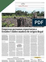 Empresas Peruanas Exportaron a Estados Unidos Madera de Origen Ilegal