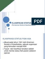 Klasifikasi Status Fisik Asa