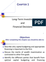 Chapter 01 Long-Term Investing and Financial Decisions