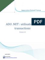 ADO .NET - Utilisation Des Transactions