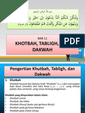 Khutbah Tabligh Dan Dakwah