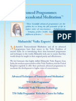 2012 Advanced Programmes of Transcendental Meditation