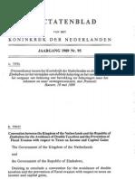 DTC agreement between Zimbabwe and Netherlands