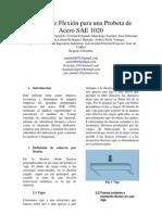 Ensayo de Flexión para una probeta de Acero SAE 1020
