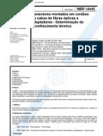 NBR 14445 - Conectores Montados Em Cordoes Ou Cabos de Fibras Opticas e Adaptadores - Determinaca