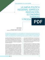 La nueva política industrial española