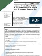 NBR 14471 - Conexoes de Polietileno PE 80 e PE 100 - Determinacao Do Fator de Perda de Carga Em t