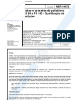 NBR 14472 - Tubos e Conexoes de Polietileno PE 80 e PE 100 - Qualificacao de Soldador