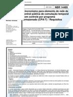 NBR 14499 - Sincronismo Para Elemento de Rede de Central Publica de Comutacao Temporal Com Contro
