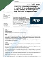 NBR 14508 - Central de Comutacao - Subsistema de Controle de Conexao de Sinalizacao (Sccp) - Sist