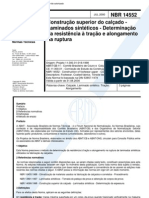 NBR 14552 - Construcao Superior Do Calcado - Laminados Sinteticos - Determinacao Da Resistencia A