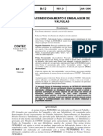 N-0012 D - ACONDICIONAMENTO E EMBALAGEM DE VÁLVULAS - Procedimento