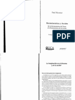 Ricoeur - La imaginación en el discurso y en la acción