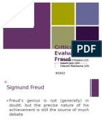 Critical Evaluation of Freud