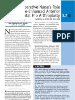 Perioperative Nurses Role Anterior THA[1]