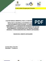 Plan de Manejo Ambiental de Consolidación de la Red de Biocomercio en el Oriente Antioqueño