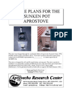 SIMPLE PLANS FOR THE SUNKEN POT APROSTOVE