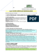 Adaptación Curricular Individualizada.Belén Jiménez Jurado