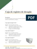 Caja de Registro de Desague