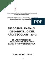 Directiva Inicio Clases 2012 Mario y Lucho Revisado Final