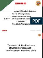 Slides Laboratorio Copyright  Tutela di diritto d'autore ed enforcement