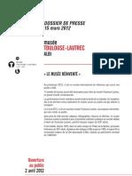 Dossier Presse // musée Toulouse-Lautrec