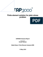 Finite Element Solution for Plain Stress Problem Using SAP2000