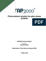 Finite Element Solution for Plain Stress Problem Using SAP2000