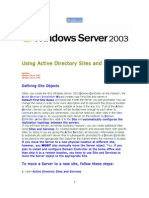 Using Active Directory Sites and Services