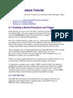 Stored Procedure Tutorial