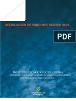 Instalacion Server windows 2003
