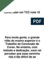 Como Fazer Um TCC Nota 10