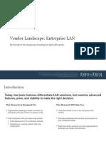 Enterprise LAN Vendor Landscape