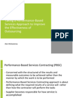 Taking a Performance-Based Services Approach to Improve the Effectiveness of Outsourcing