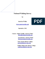 America Walks National Survey